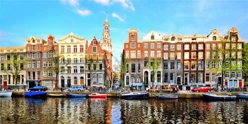 New York - Amsterdam flight ticket