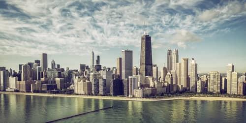 New York - Chicago flight ticket
